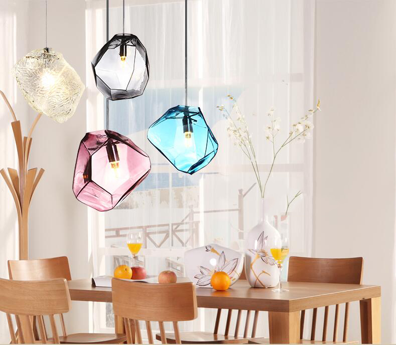 Girban Brand Modern LED Pendant Lights Multicolour Dining-room Restaurant Lamp Stained Glass Lamp Pendant Lamps fumat stained glass roses lightings modern art pendant light for living room restaurant lamp european style pendant lamp lights