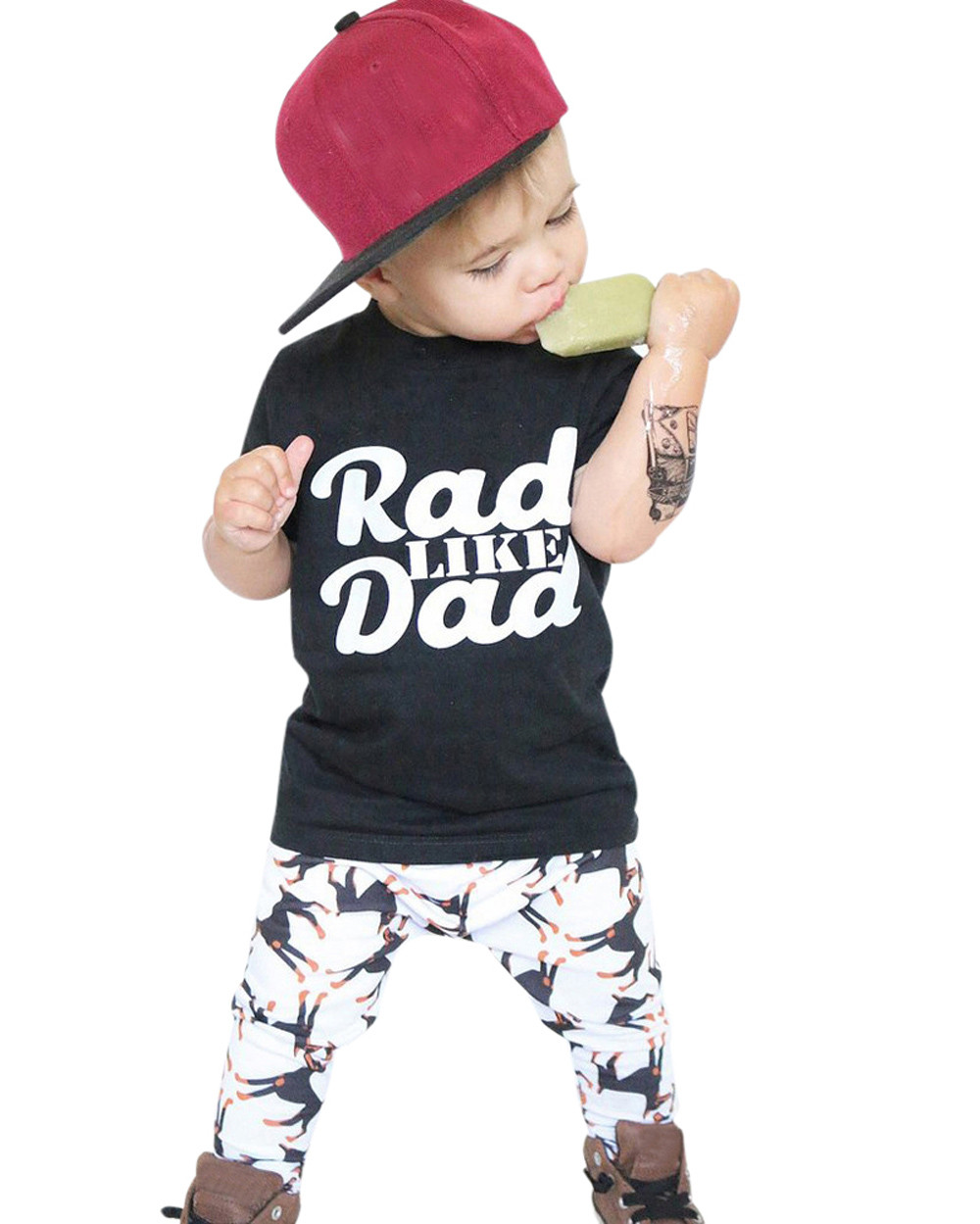 MUQGEW Toddler Boys Summer Clothes Letter Print Tops Shirt Pants Outfit Set Clothes Kids Hip Hop Clothing Menino Q06