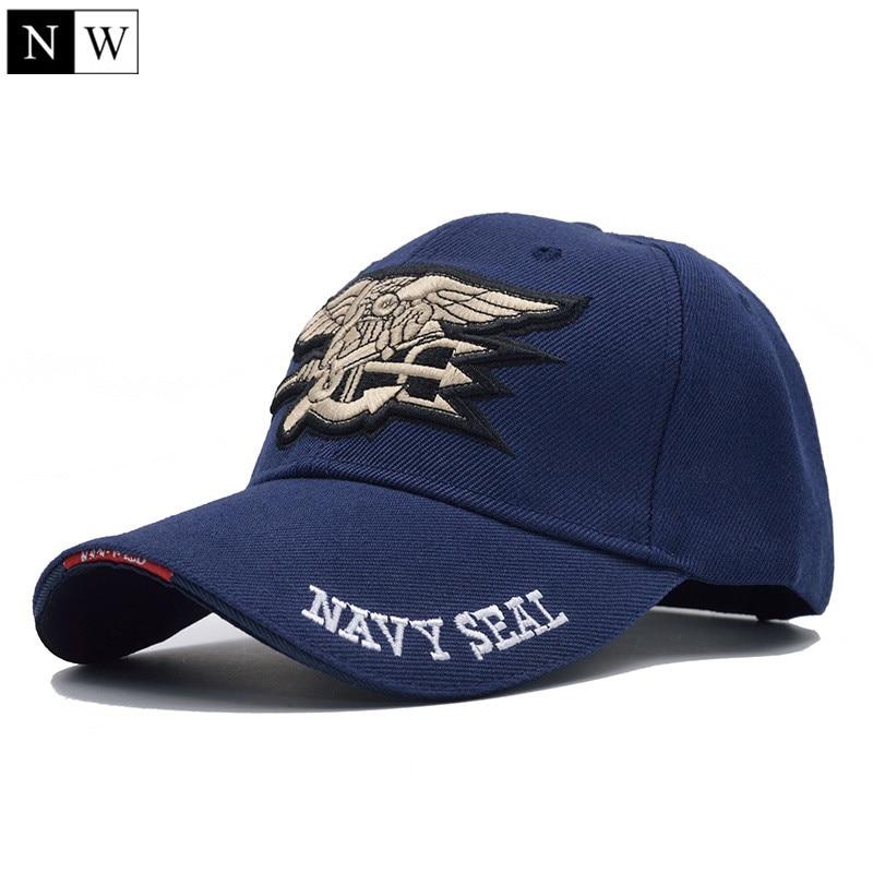[NORTHWOOD] Высококачественная мужская бейсбольная Кепка в морском стиле США, темно-синяя кепка с уплотнениями, тактическая армейская Кепка, Кепка с козырьком, бейсболка для взрослых - Цвет: Navy blue