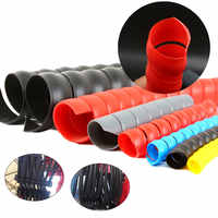 Spiral Wire Organizer Wrap Tube Flame Retardant Cable Sleeve spiral bands diameter Casing Pipe Shrink tube Fiberglass 10mm/14mm