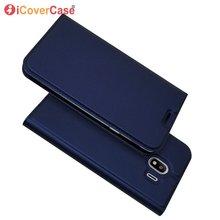 Magnet Flip Case For Samsung Galaxy J4 2018 J400F Wallet Cov