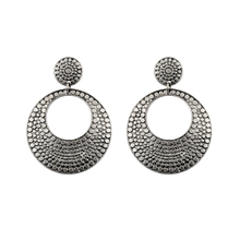 Free shipping  New Arrival Bohemia Tibetan Jewelry Tibetan Silver Round Retro Vintage Earrings Alloy Earrings 1pair Women