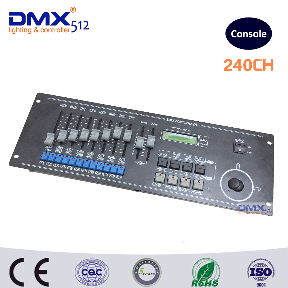 DHL Free shipping 240 Channels DMX512 controller console,Total of 240 output channels standard DMX512 signal for stage lighting elc12 e aq i standard elc 12 series expansion modules 2 channels output current signal
