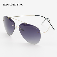 Fashion Titanium Rimless Sunglasses Men Women Luxury Brand Designer Aviator Sun Glasses Super Light Driving Eyewear