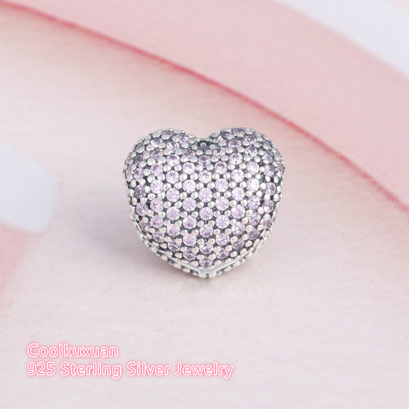 925 Sterling Silver Galaxy Charm Beads with Blue CZ CC-JJ