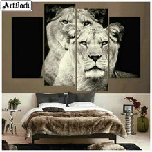 4 spell diamond painting lion full square embroidery horse 3d mosaic sticker animal four styles