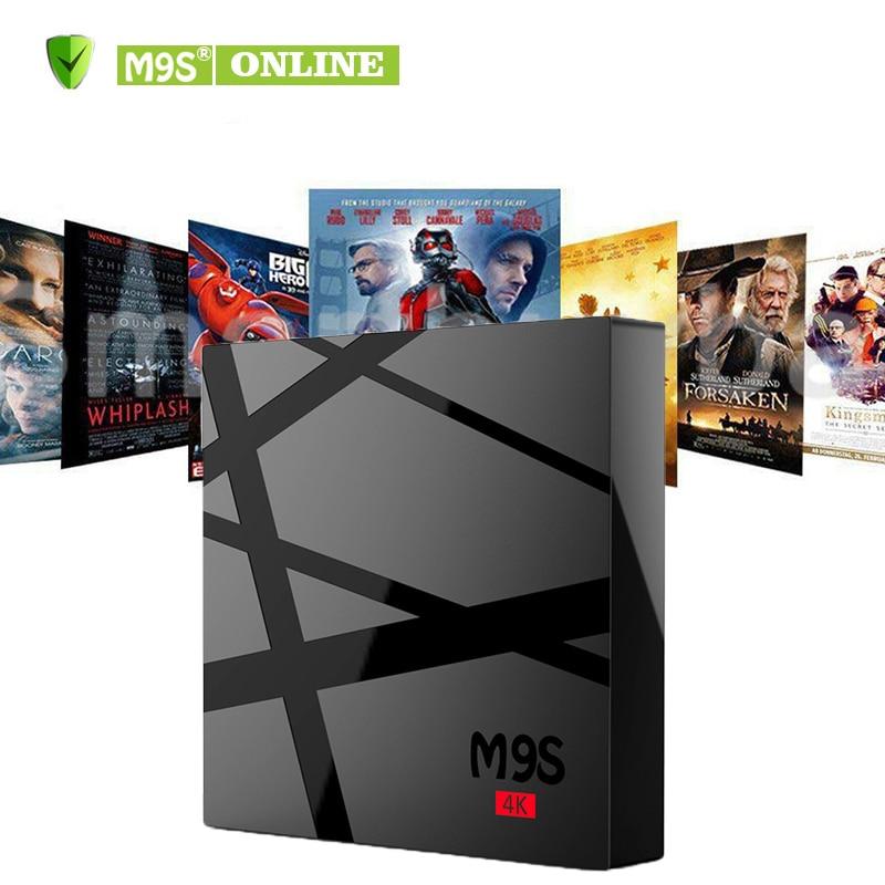 RK3229 M9S 4 K Android smart OTT TV Boîtes Ultime HD KD17.3 Android6.0 Smart TV Box 1G 8G 2.0G Matériel Film IPTV Médias lecteur