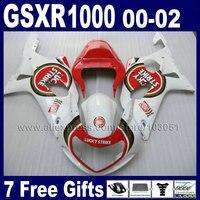 OEM Инъекций сделал Обтекатели для GSXR 1000 K2 suzuki 01 00 02 GSXR1000 2002 2001 2000 красный белый Lucky Strike обтекатель Ki