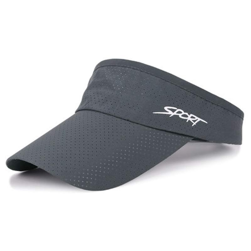 Sun Protected Men Womens Cool Breathable Sport Visor Hat Golf Tennis Visor Cap Grey Black Navy Beige White Blue