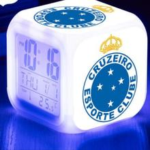 93de129fb0e Clube de futebol LED Display de Temperatura Digital Snooze Despertadores Relógio  Cruzeiro Esporte Clube reveil enfant