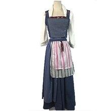 La bella y la bestia belle dress cosplay blue dress traje todos los días