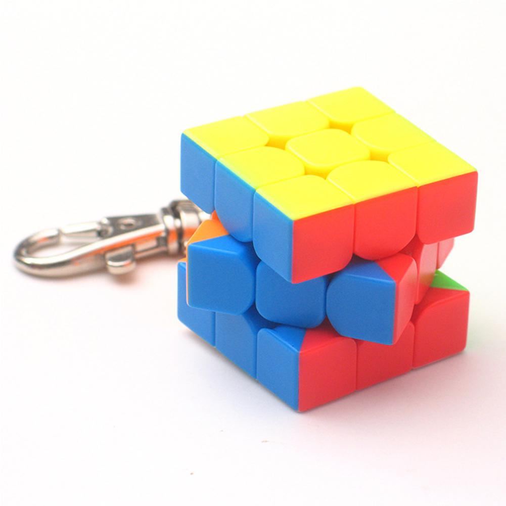 3x3x3 3cm Mini Small Magic Puzzle Cube Key Chain Smart Cube Toy & Creative Key Ring Decoration Toy Kids Gifts