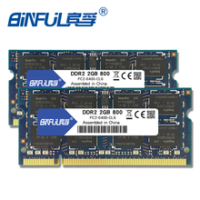 Binful DDR2 4GB (2pcsX2GB) 800mhz PC2-6400 Dual channel for laptop Notebook Memory memoria Ram  цена в Москве и Питере
