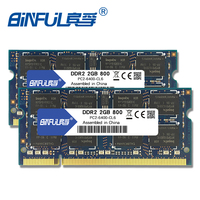 Binful DDR2 4GB 2pcsX2GB 800mhz PC2 6400 Dual Channel For Laptop Notebook Memory Memoria Ram