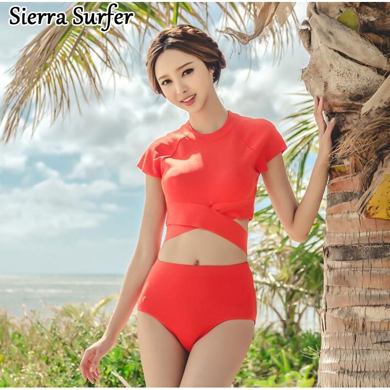 Swiming Suit Women Woman Bathing Suits 2018 Split Swimwear Swimsuit With Pushap Swimming ...