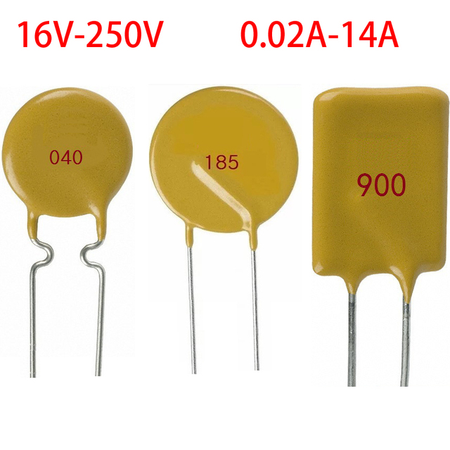 JK60-005 JK60-010 60V 0.05A 50MA 0.1A 100MA PPTC PolySwitch Plug Dual In-Line Package DIP Self Heal Recovery Resettable Fuse