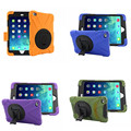 Super Protection Silicon PC Armor Case W/ Rotating Kickstand Shockproof Layer Hybrid for Apple iPad Mini 4 mini4 7.9'' Tablet