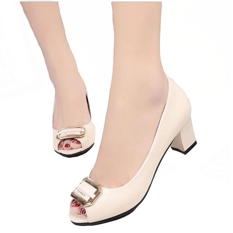 2018 Métal Printemps Femmes Chaussures Nouvelle D'été Simples blanc Et La Sandales rose Poisson Pour En De Pompes Noir bouche uOkXZPi