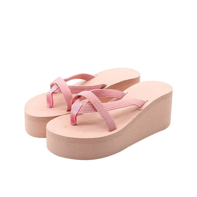 CPI Summer Women Flip Flops Non-slip Platform Shoes Woman Wedges High Heel Slippers Outdoor Beach Sandals zapatos mujer YJ-25 women slippers summer beach shoes rivets flip flops women slippers sexy platform sandals women s non slip shoes plus size 36 42