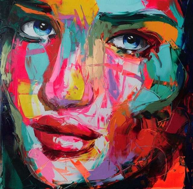Abstract Woman Face Wall Art Canvas Paintings for Dining