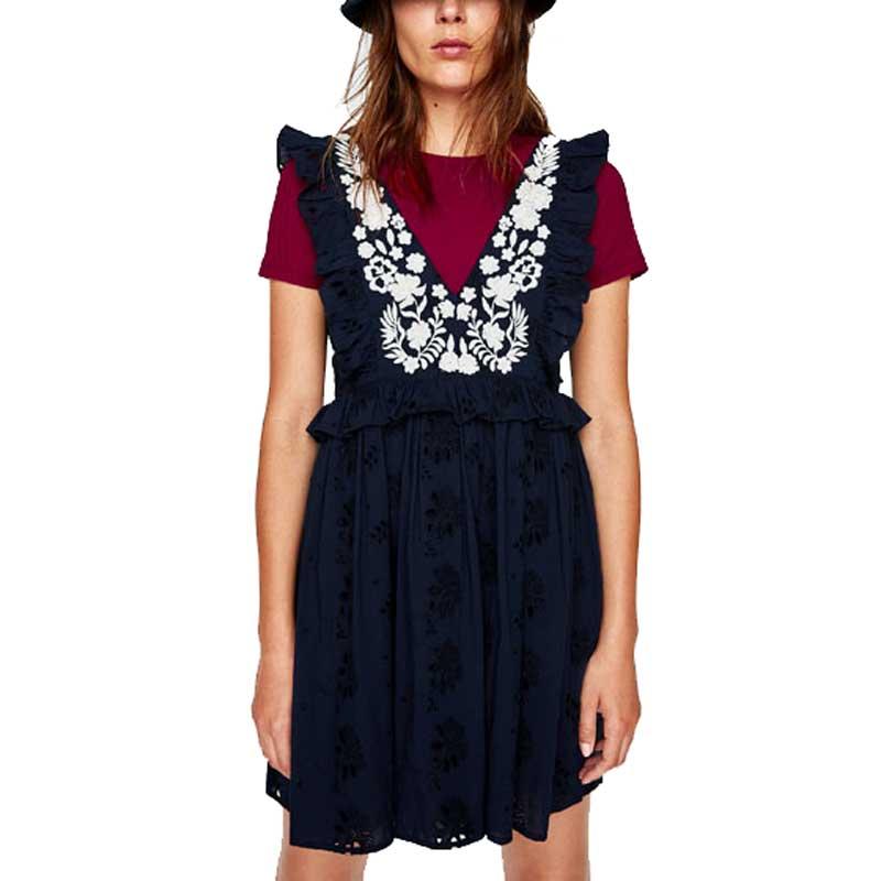 8af82af57 INSPRIED BOHO Verão vestido bordado floral botão up ruffled manga Fluindo  vestidos hippie chic bohemian mini vestido mulheres 2107 em Vestidos de  Roupas das ...