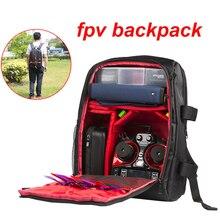 Fpv zangão mochila iflight zangão saco duplo ombro pacote leilão fpv qav250 ix5 v2 pacote grande capacidade