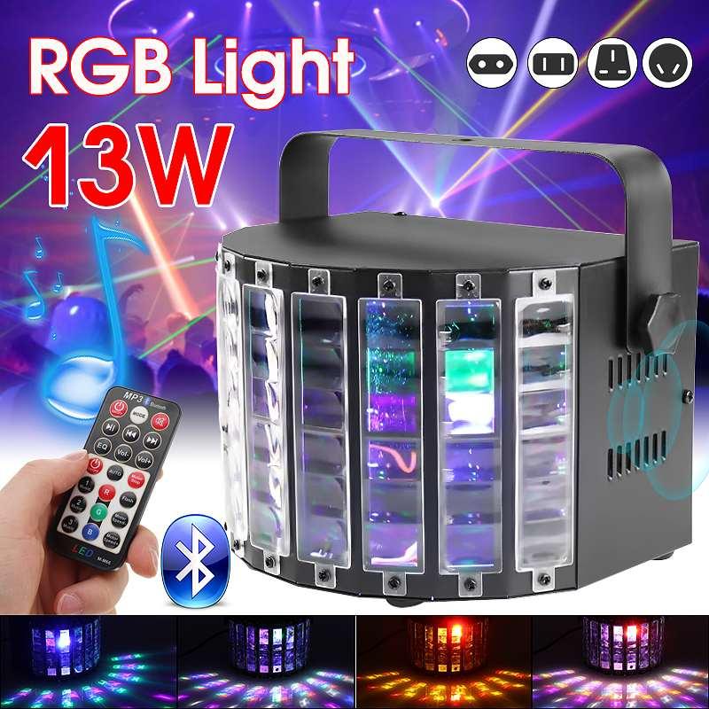 13 W LED projecteur Laser lumière Disco son à distance lumière activée rvb fête scène lumière DJ musique Support USB/SD sans fil bluetooth