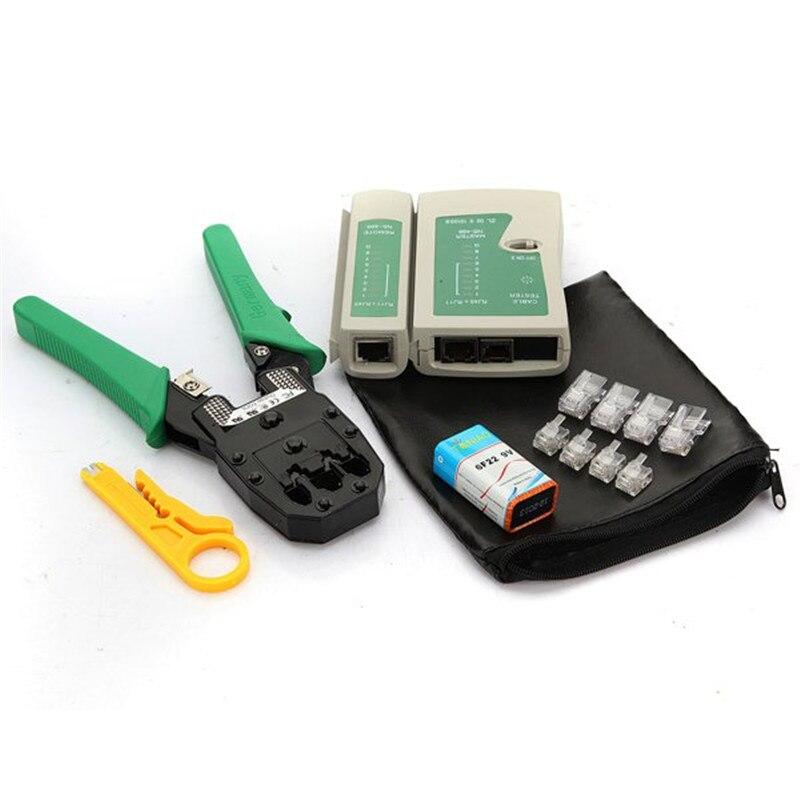 Alidwantop Technology CO., LTD New Best Price RJ45 RJ11 RJ12 Wire Cable Crimper Crimp Cutting Stripper Network Hand Tool Pliers  Cable Tester RJ45 plug+boots