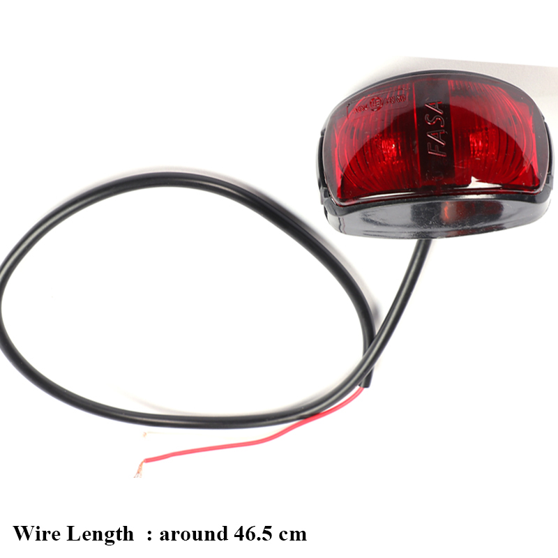 1 piece  24V 0.6W RED  Trailer LED  Side Marker Lights Truck Rear Lamp Car accessory lorry Auto Signal lamps Caravan Indicator-in Truck Light System from Automobiles & Motorcycles