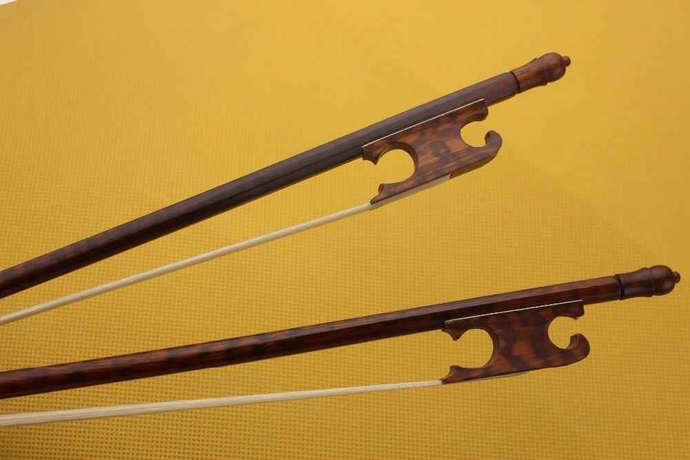 Real do Cabelo do Cavalo 4 em Tamanho Peça Novidades Snakewood Violin Bow Barroco 4 – Branco 1 Top