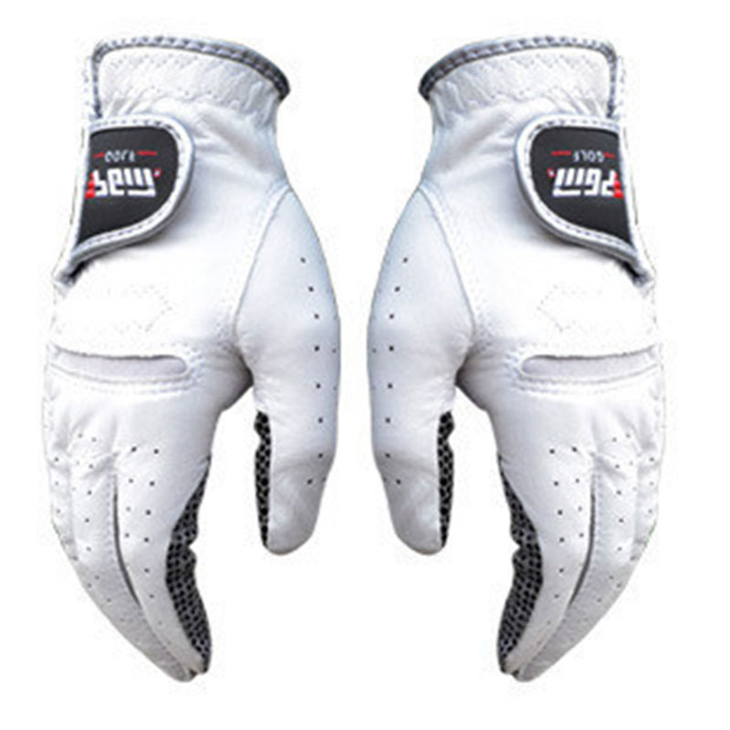 Men's Golf Leather Gloves Left And Right Hand Pure Sheepskin Mittens With Anti-Slip Granules Wear Single Sports Gloves D0011