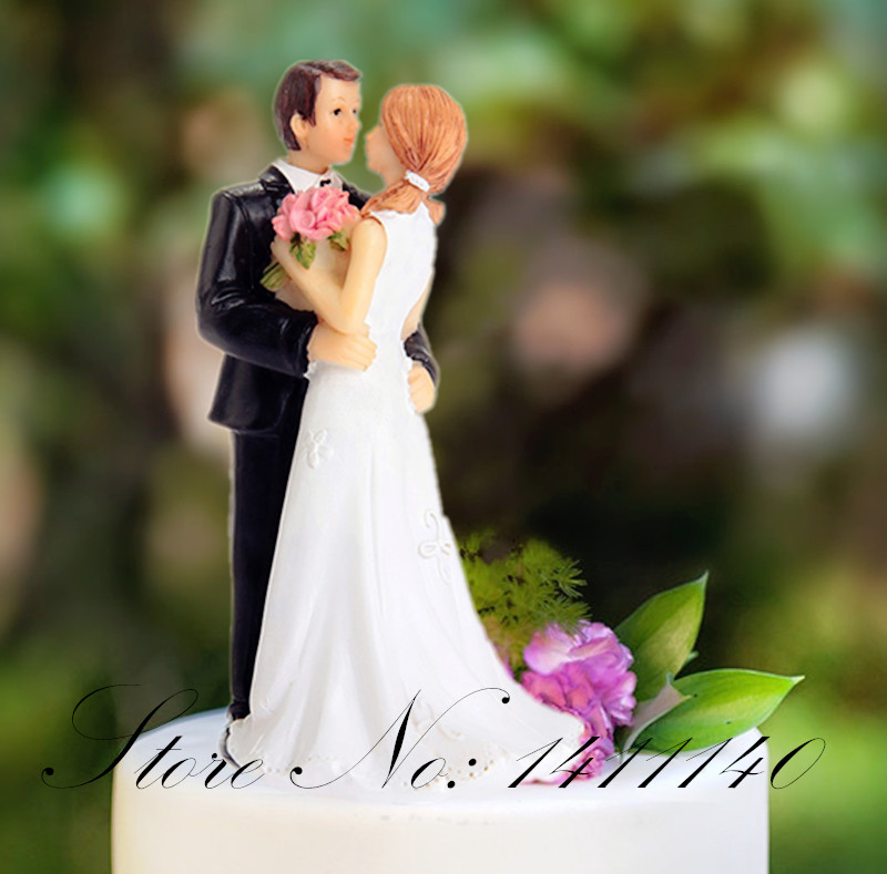 Loving Football Bride and Groom Wedding Cake Topper wedding gifts  for wedding cake decorations supplies with free shipping