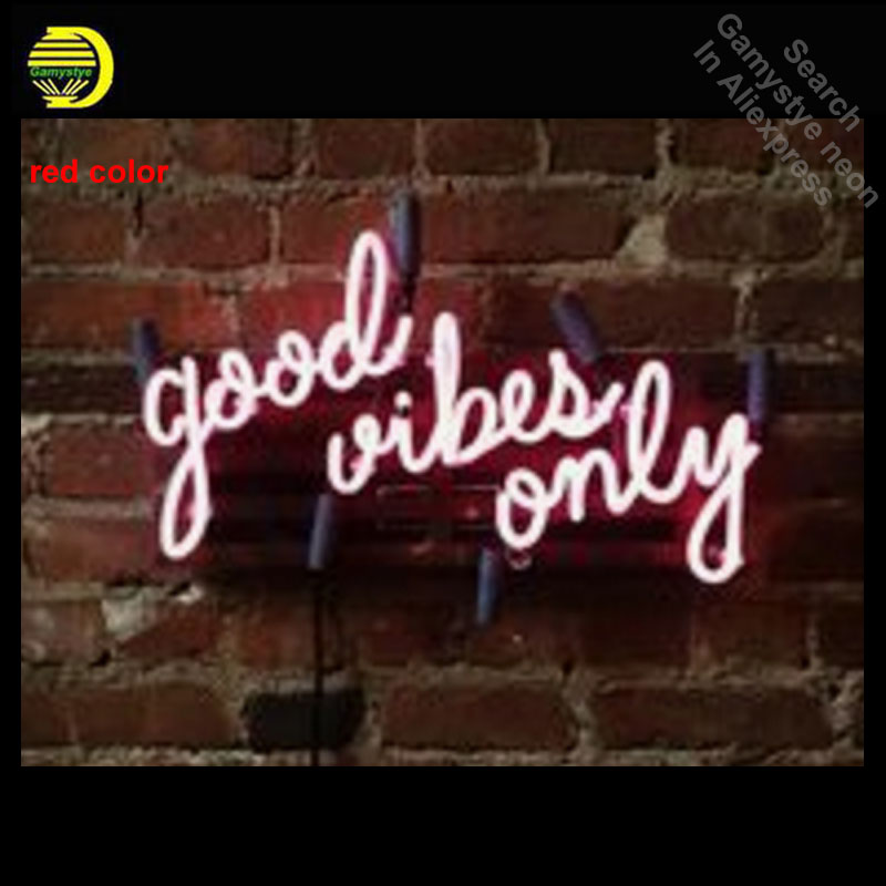 Neon Sign for Good Vibes Only Mounted Neon Bulb sign handcraft neon signboard neon wall lights anuncio luminos dropshipping led024 b open cocktail led neon light sign whiteboard wholesale dropshipping