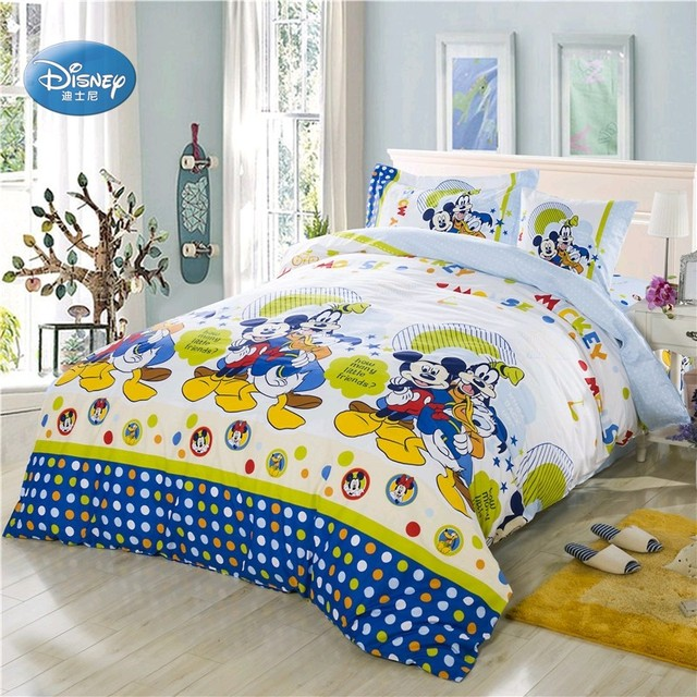 Disney Mickey Mouse Donald Duck Bedding Sets Children Bedroom Decor
