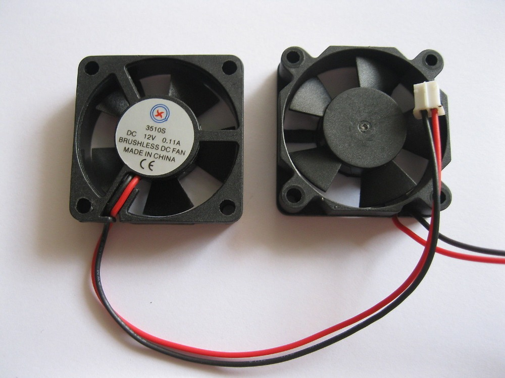 Zuversichtlich 2 Stücke Bürstenlosen Dc Kühlung 5 Klinge Fan 3510 S 12 V 35x35x10mm Schwarz Baumaterialien