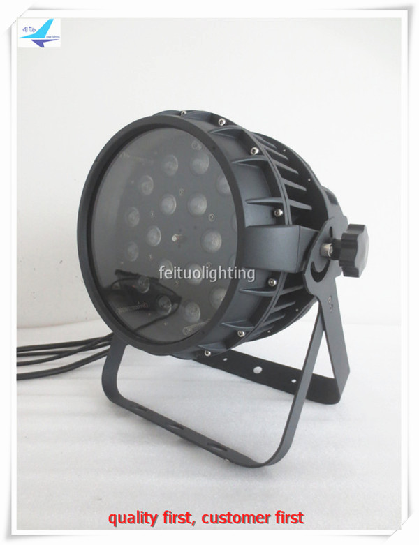 free shipping 6pcs/lot DJ Stage Outdoor LED Wash Zoom Par Light 18x10w RGBW Quad Color 4IN1 Zoom LED Wash Pro Lighting for Disco
