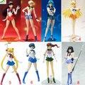 10 estilo 2015 Nueva Anime Sailor Moon Sailor Neptune Luna Marte S.H. Figuarts figura de acción DEL PVC Modelo Chica Kids toy Envío Gratis