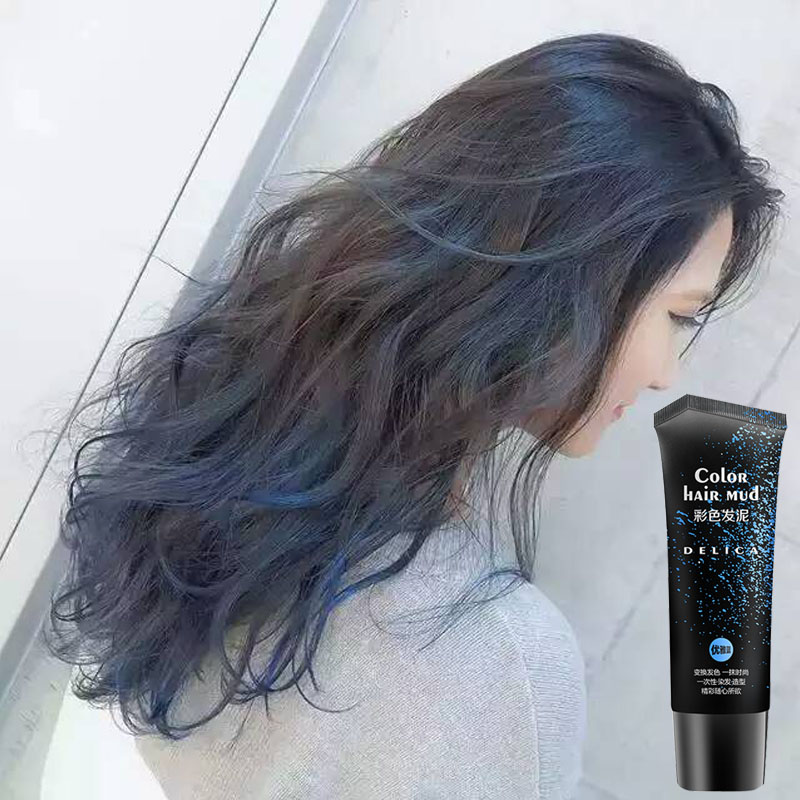 Fashion Disposable 6 Colors Hair Wax Blue Color Pomade For Strong