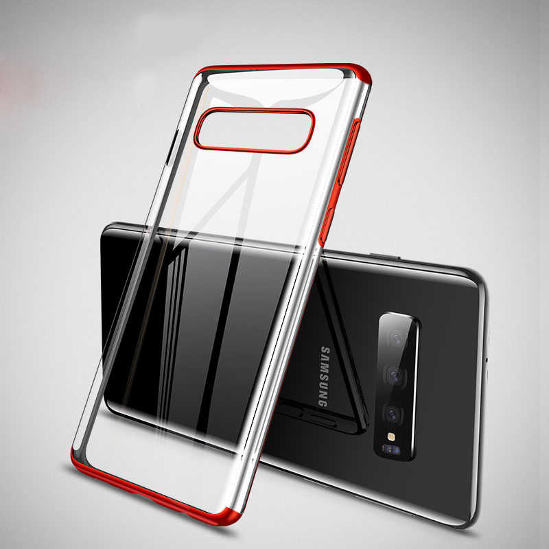 Color Plating Soft TPU Case For Samsung Galaxy S10 S8 S9 Plus A10  A30 A50 M10 M20 M30 S10e Clear Silicon Back Cover Case Coques