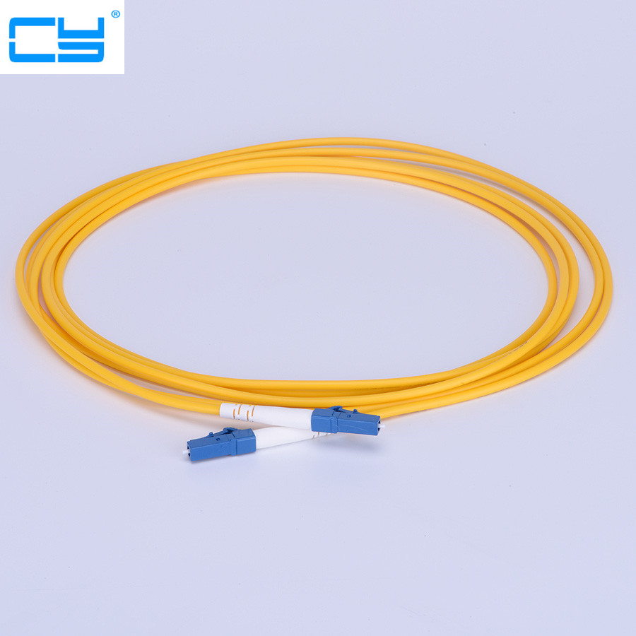 10PCS/lot 3M 10ft LC UPC Simplex single-mode fiber optic patch cord LC 3M Simplex 3.0mm FTTH fiber optic jumper free shipping