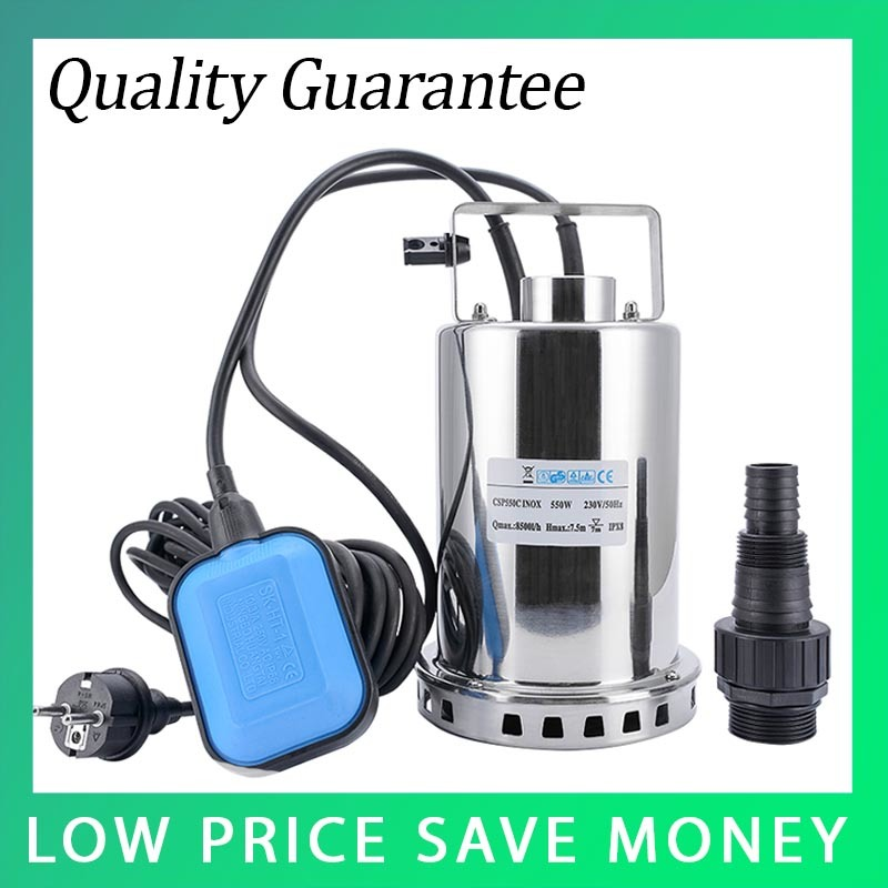 QDS-550W Electric Centrifugal Garden Pump 8500L/H Building Booster Pump Stainless Steel Submersible Water Pump stainless steel 220v portable electric water transfer pump sump submersible utility garden pool