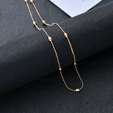 Retro Bead Short Clavicle Chain Necklace Women Fashion Gold Silver Choker Statement Necklaces Jewelry Collier Femme цена и фото