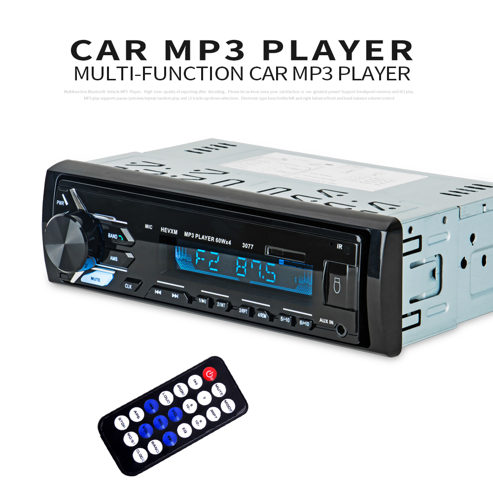4 ''autoradio universel In-Dash 1 Din Audio numérique LCD écran voiture stéréo lecteur Bluetooth USB/TF/MP3/WMA avec télécommande