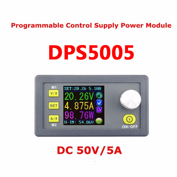 DPS5005 50V 5A Buck Adjustable DC Constant Voltage Power Supply Module Integrated Voltmeter Ammeter With Color Display