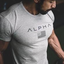 New Men Cotton Short sleeve t shirt Fitness bodybuilding Crossfit T-Shirts