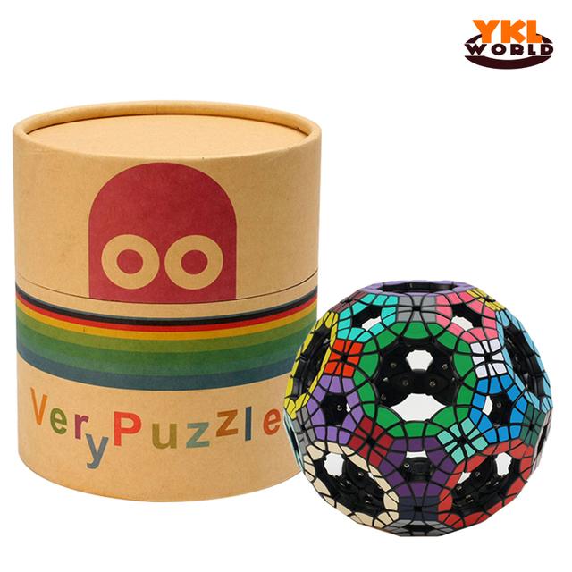 Verypuzzle 62-Sided Hueco Fútbol Tuttminx Cubo Mágico Profesional PVC Pegatina Cubo Mágico Puzzle Juego de Educación Juguete de Regalo-48