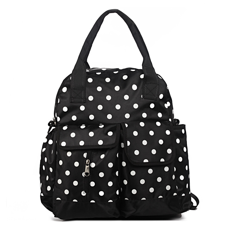 Waterproof Dot Backpack Diaper Bags Functionary Nappy Bag Large Messager Bag Cute Tote Baby Stroller Nursing Bags New Brand