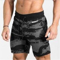 2018 Mens Fitness Bodybuilding Camouflage Brand Zipper Patchwork Sweatpants Gyms Men Summer Fashion Leisure Joggers Shorts