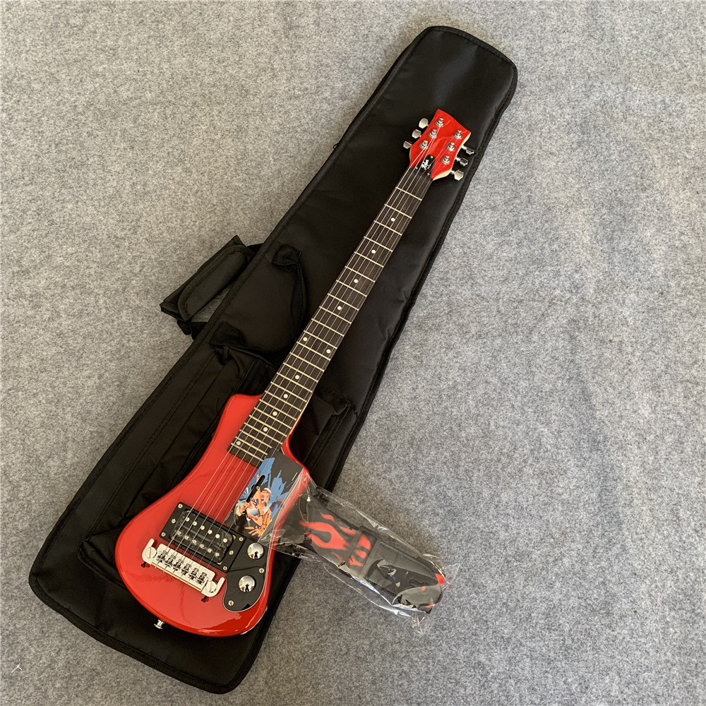 Pratique pour transporter une guitare électrique de voyage, la jeunesse sera secouée, multicolore en option, envoyer un sac à dos. Livraison gratuite.