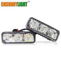 LED DRL Waterproof Car High Power Aluminum LED Daytime Running Lights DC 12V Xenon White 6000K